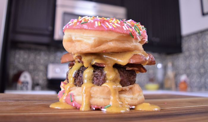 Quarantine Binge Watching The Simpson LED Me To This Monstrosity. The Homer Simpson Burger