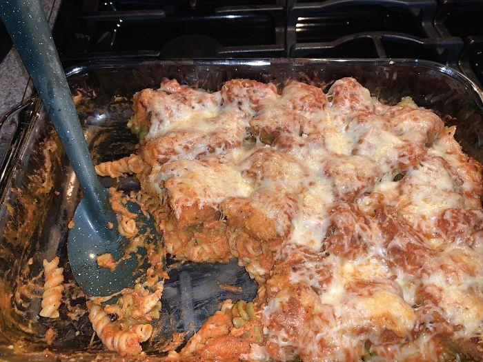Dinosaur Chicken Nugget Parmesean Courtesy Of My Genius Girlfriend
