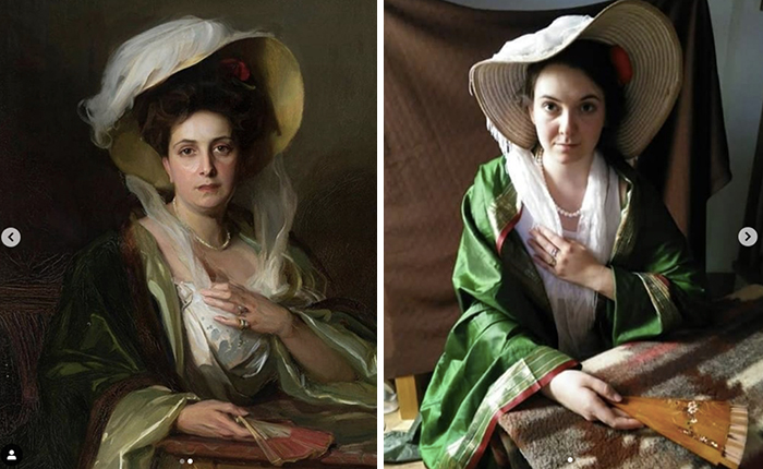 """Fülöp László, """"Portrait of a lady in a big hat"""", 1907"""