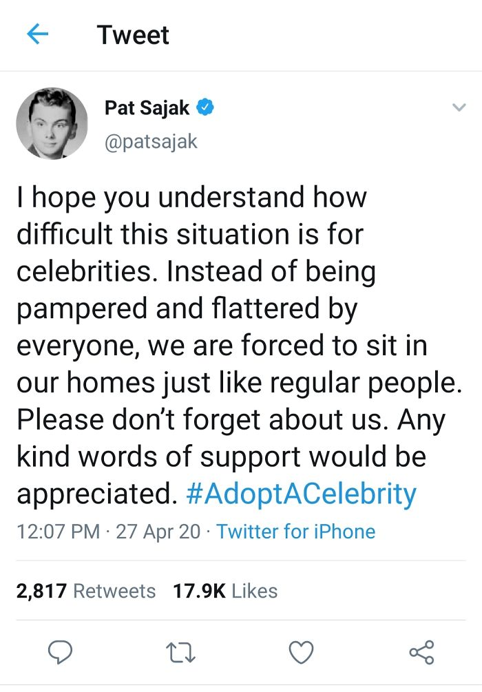 I'm Not Sure That Pat Sajak And I Would Be Best Friends, But He's Got Some Pretty Funny Takes On Twitter.