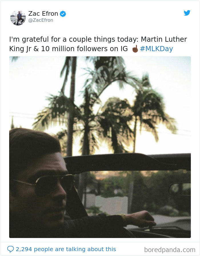 When Zac Efron Was Grateful For Martin Luther King Jr. — And Also His Own 10 Million Instagram Followers