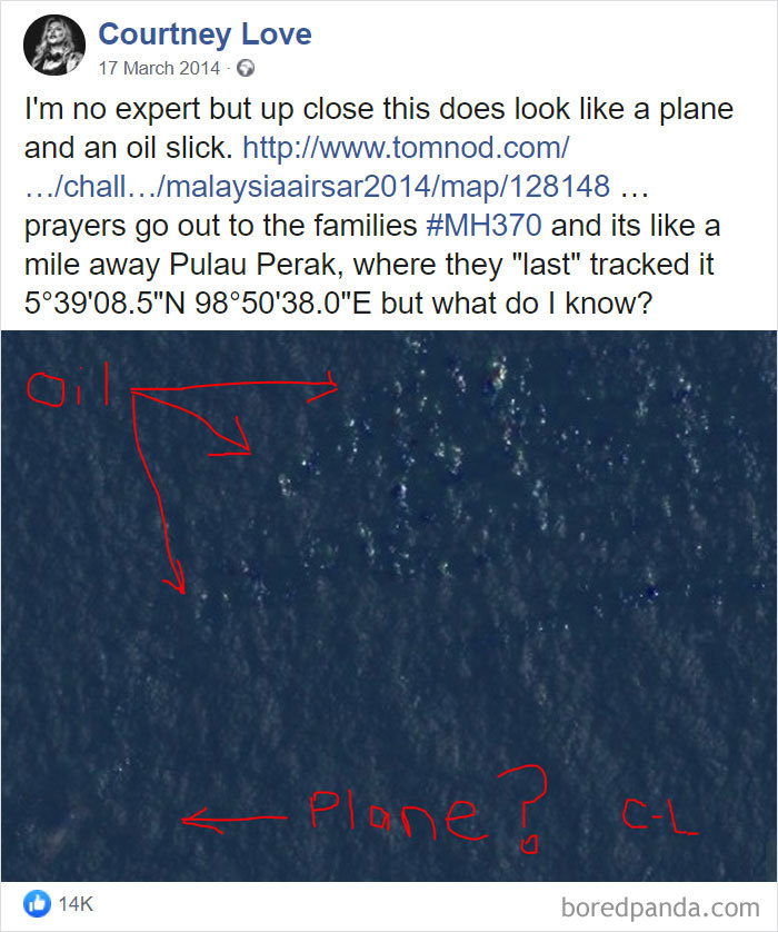 When Courtney Love Thought She Discovered The Lost Malaysian Flight (It Wound Up Being Boats)