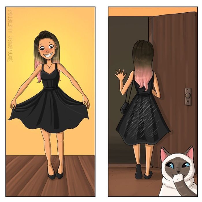 Artist Illustrates His Everyday Life With His Cats And Shows That They Are More Than Companions