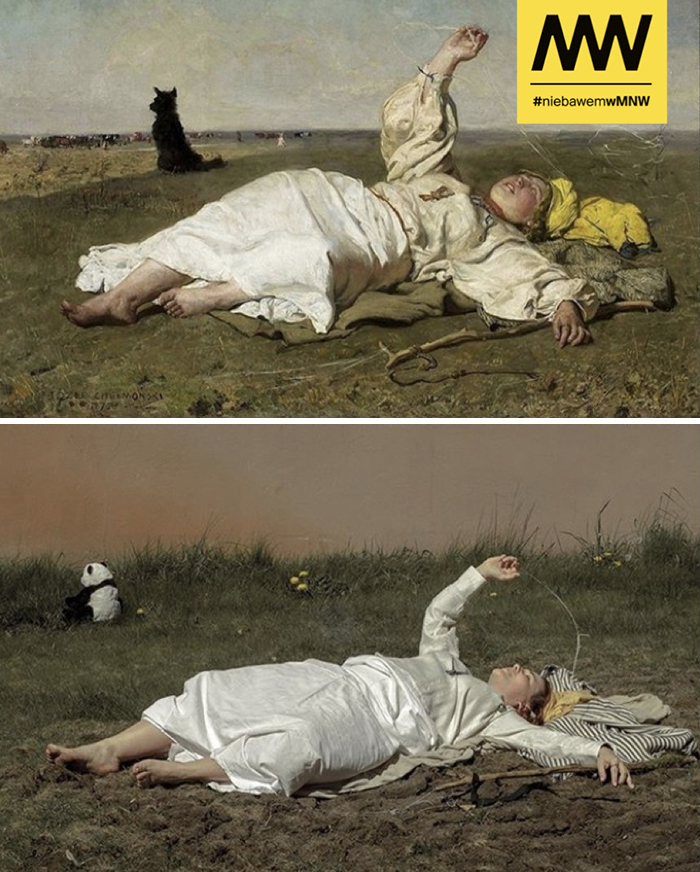 "Józef Chełmoński, ""Indian summer"", 1875"