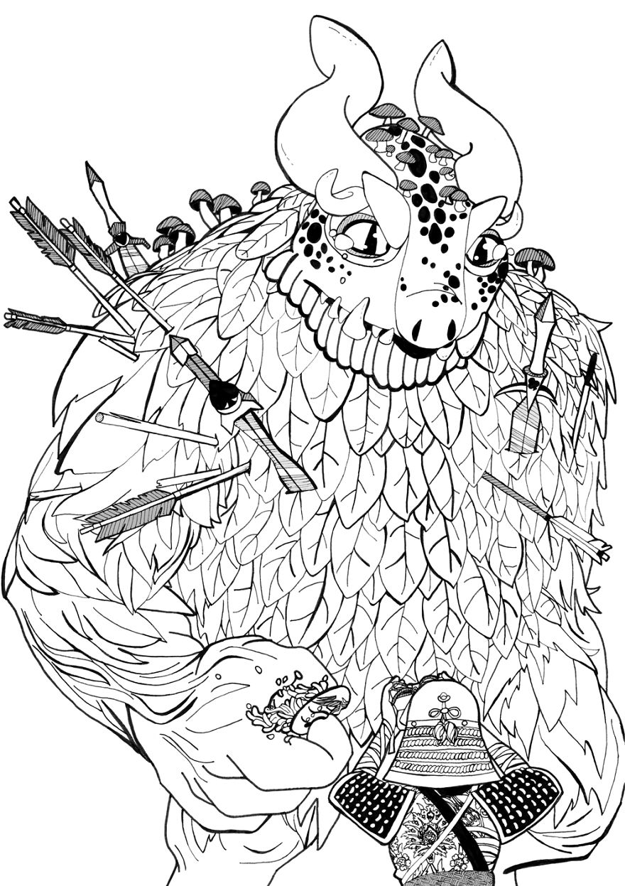 For Inktober Challenge, I Retold A Famous Russian Folktale Like Never Before
