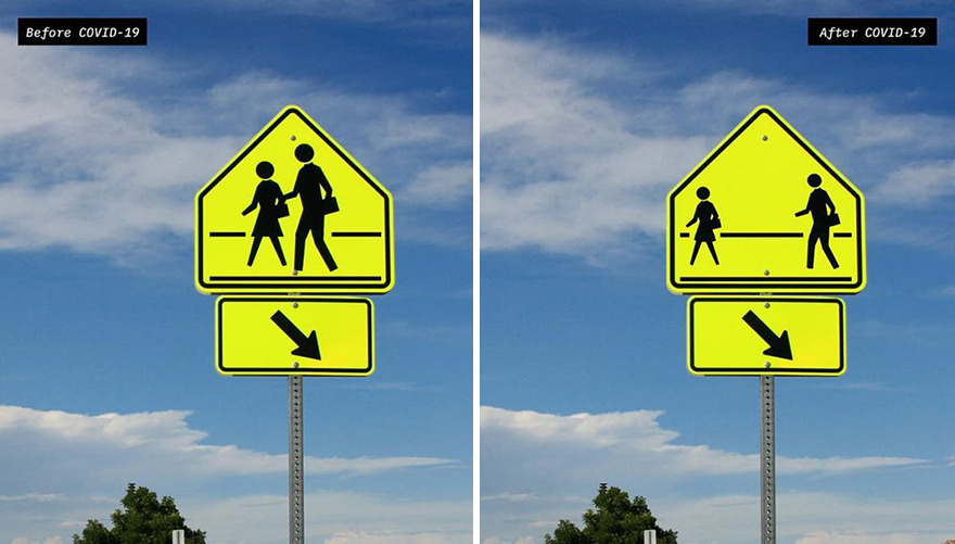 Artist Reimagines 10 Street Signs Inspired By Quarantine