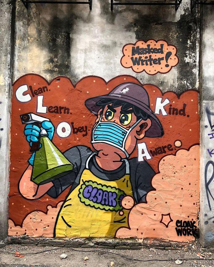 Masked Writer, Malaysia. Artist: Cloakwork
