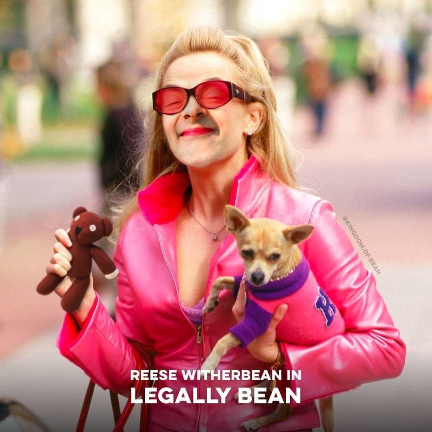 "Reese Witherspoon In ""Legally Blonde"" As Mr. Bean"