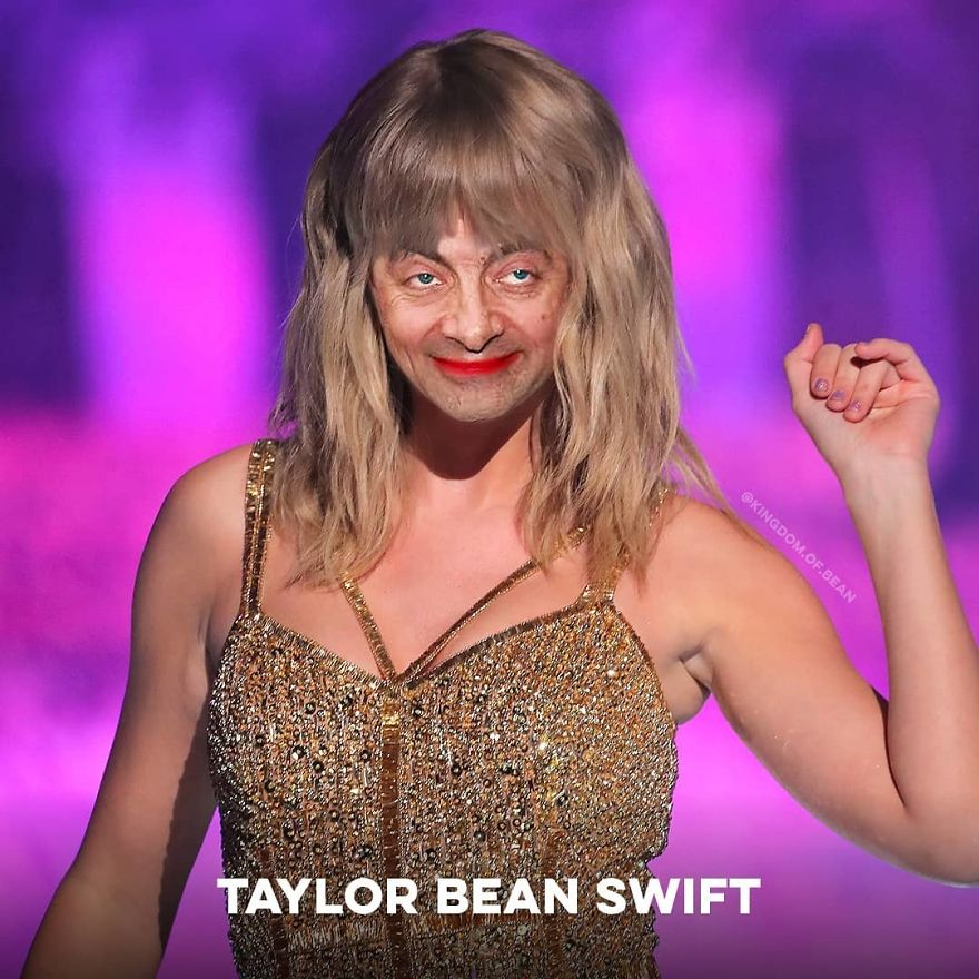 Taylor Swift As Mr. Bean
