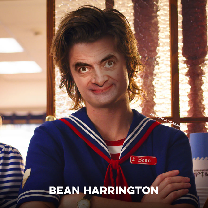 "Steve Harrington From ""Stranger Things"" As Mr. Bean"