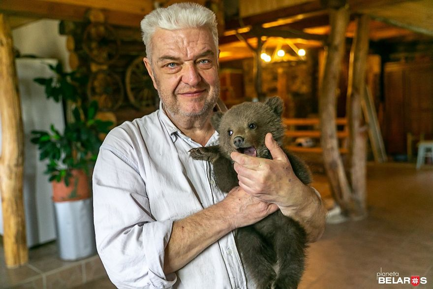 Bear Cub Wanders Onto A Farm And Authorities Suggest Putting Her To Sleep But This Man Decides To Raise Her