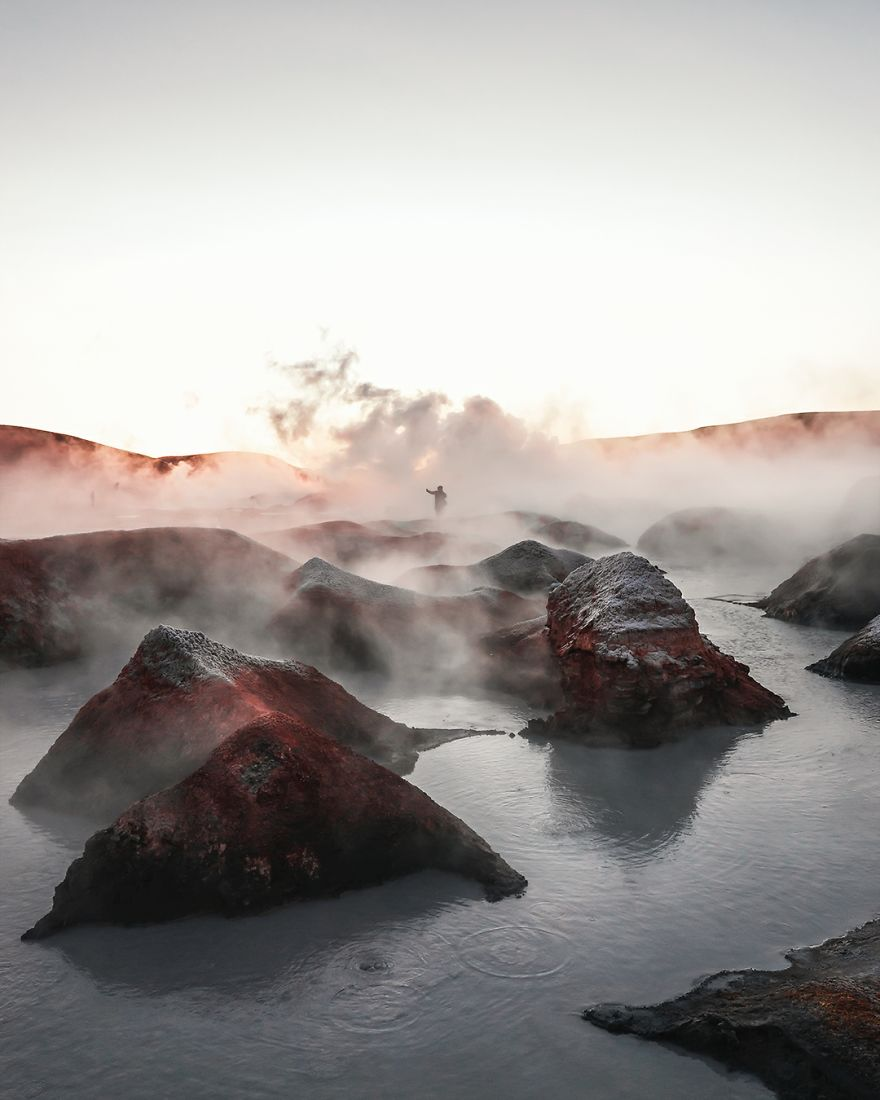 Bubbling Boiling Water In Bolivia