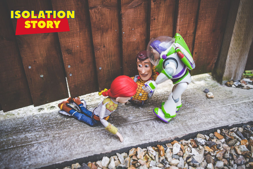 I've Decided To Capture Visual Stories With My Children's 'Toy Story' Toys During Isolation