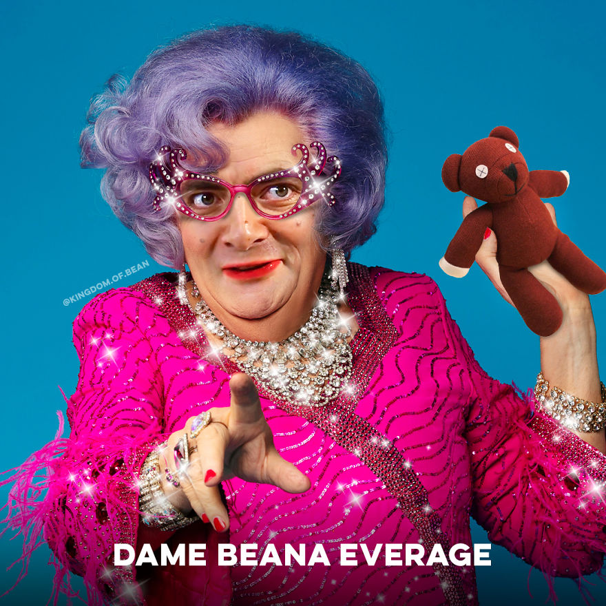 Dame Edna Everage As Mr. Bean
