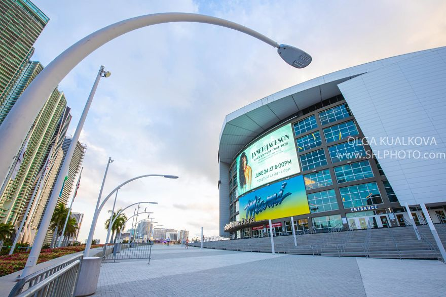 American Airlines Arena Downtown Miami, 8 Am