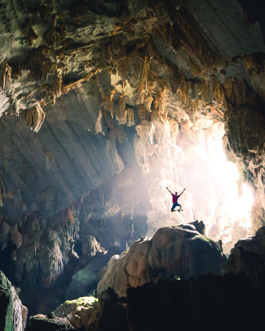 Exploring Caves In Laos