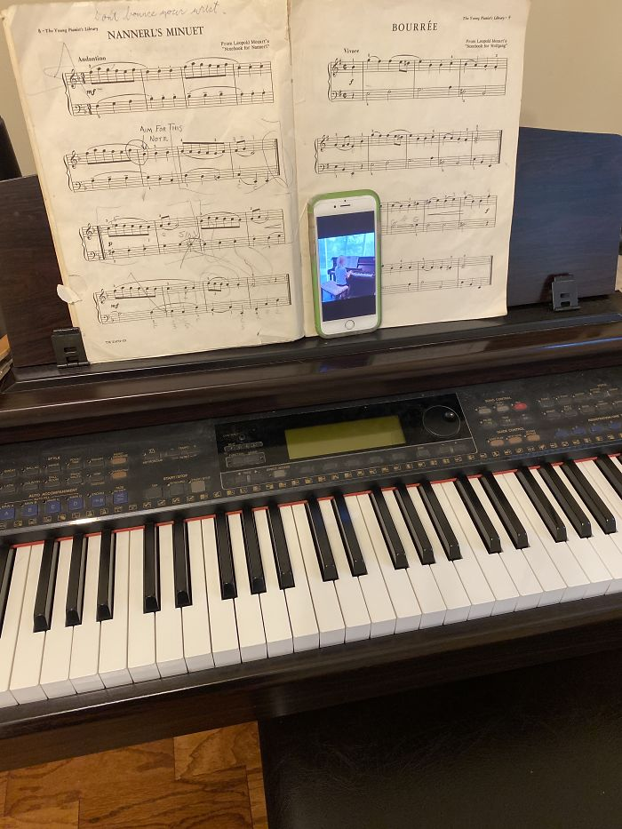 My Office: I'm Teaching Piano Lessons Via Facetime.