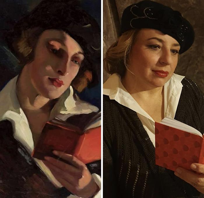 """Irena Łuczyńska-Szymanowska, """"Reading"""", 1930s"""
