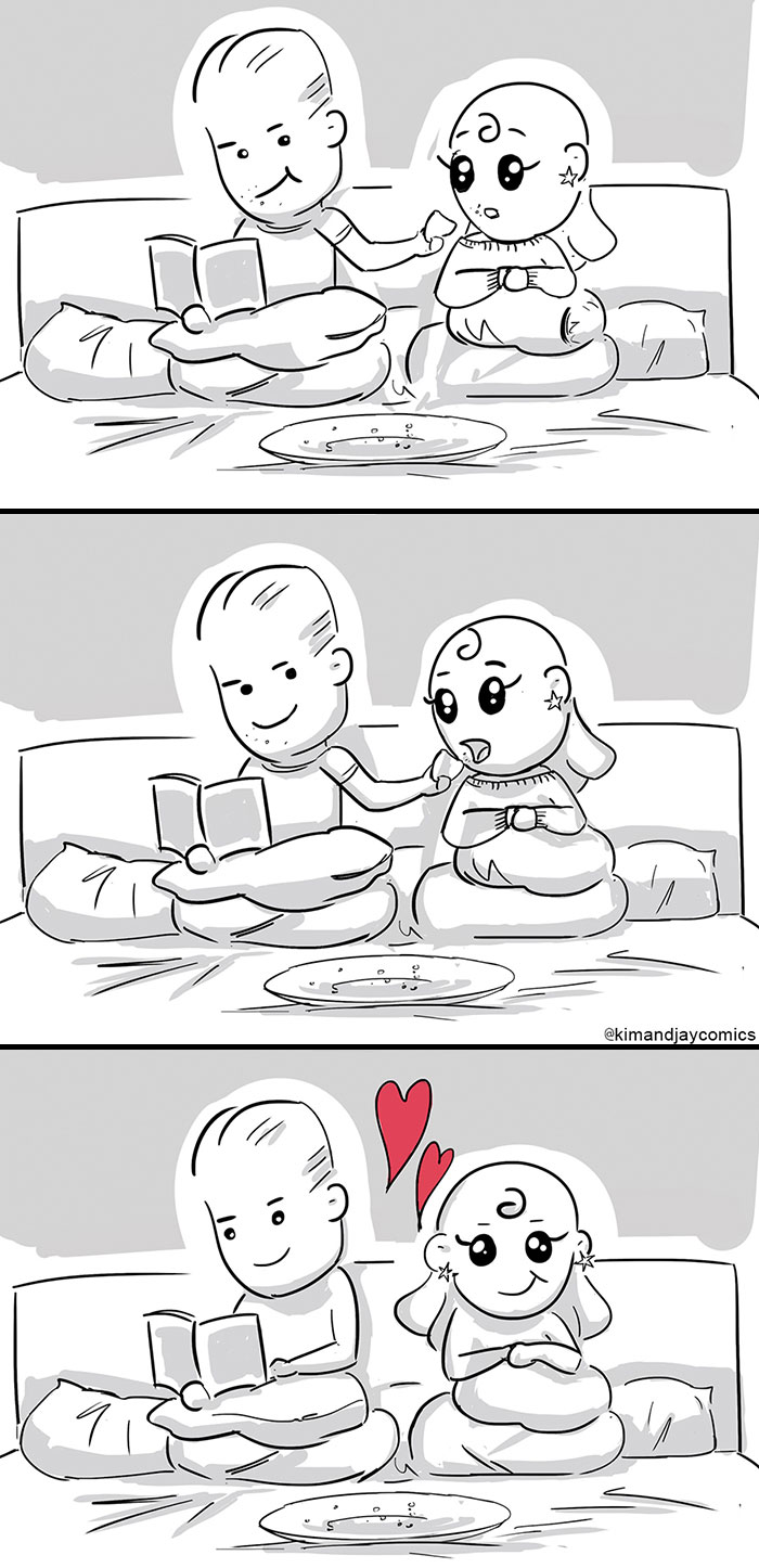 I Illustrated My Relationship With My Fiancée In These 14 Cute And Funny Comics