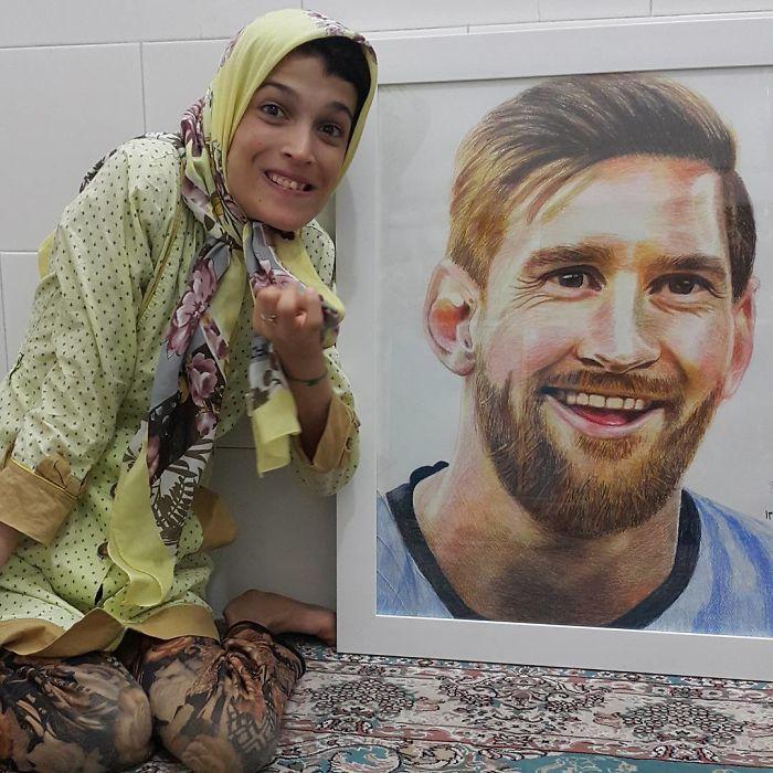 Ova umjetnicu invalidnost nije spriječila da se bavim crtanjem, pogledajte njezinih 30 slika nactranih nogom