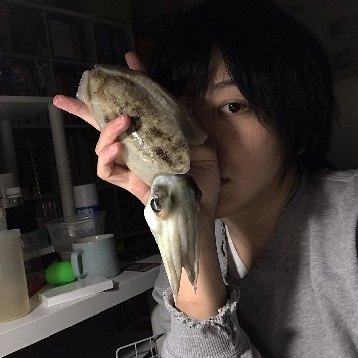 Japanese Artist Creates Incredibly Realistic Drawing Of A Squid That Looks Like A High-Resolution Photograph