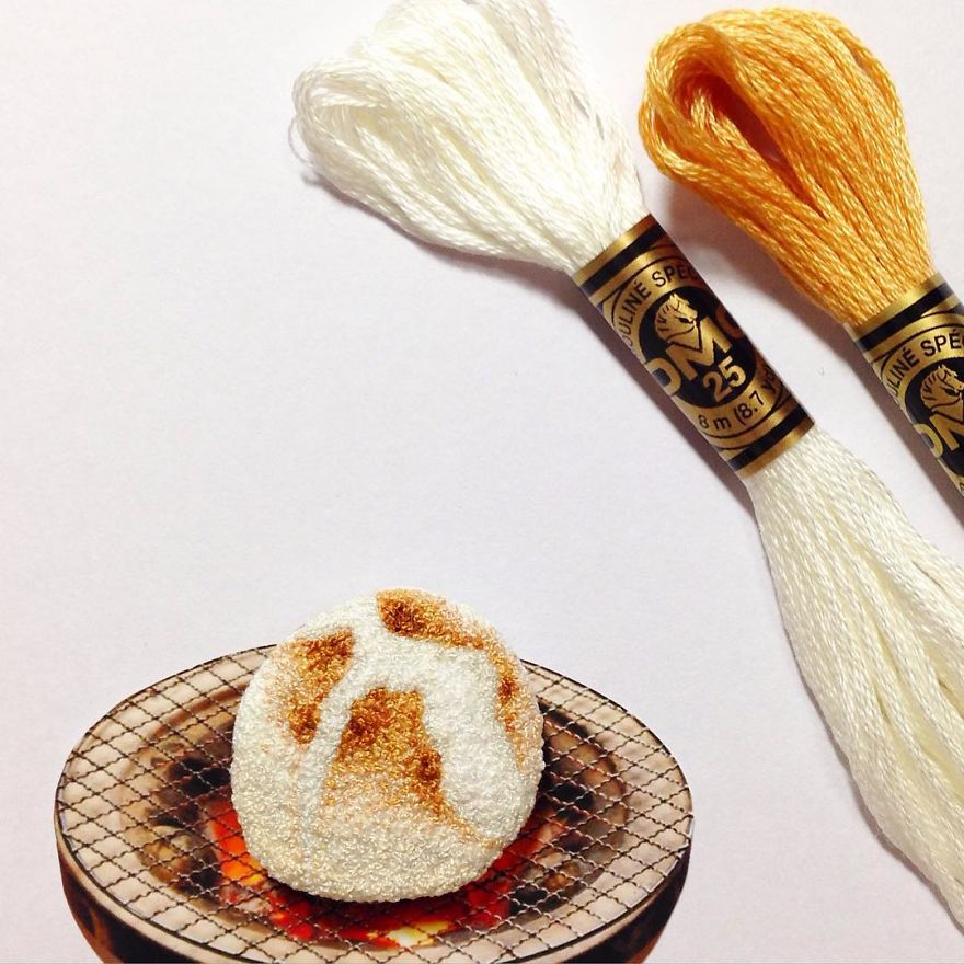 Japanese Artist Makes Embroidery So Realistic That It Makes You Want To Eat It