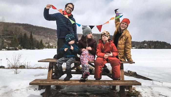 Jf, Victor, Zoya, Max, And Kseniya (Morin-Heights, Canada)