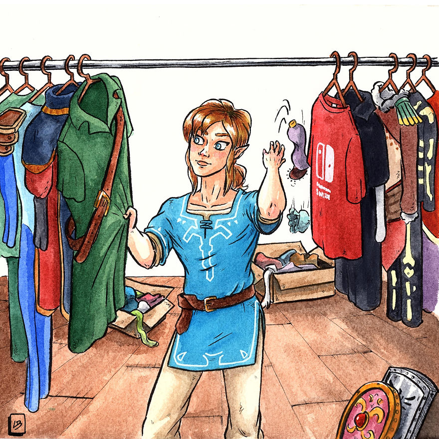 Organize Your Wardrobe Like Link