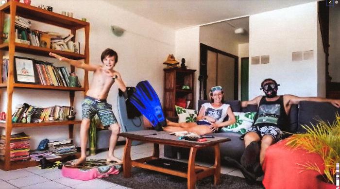 Nathan, Céline, And Stéphane (Pape'ete, French Polynesia)