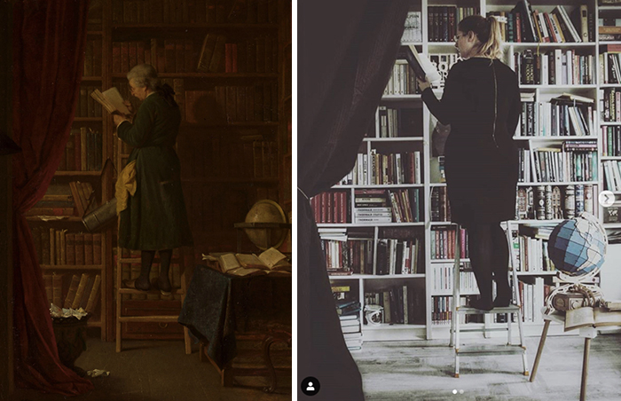 """Georg Reimer, """"In the library"""", before 1866"""