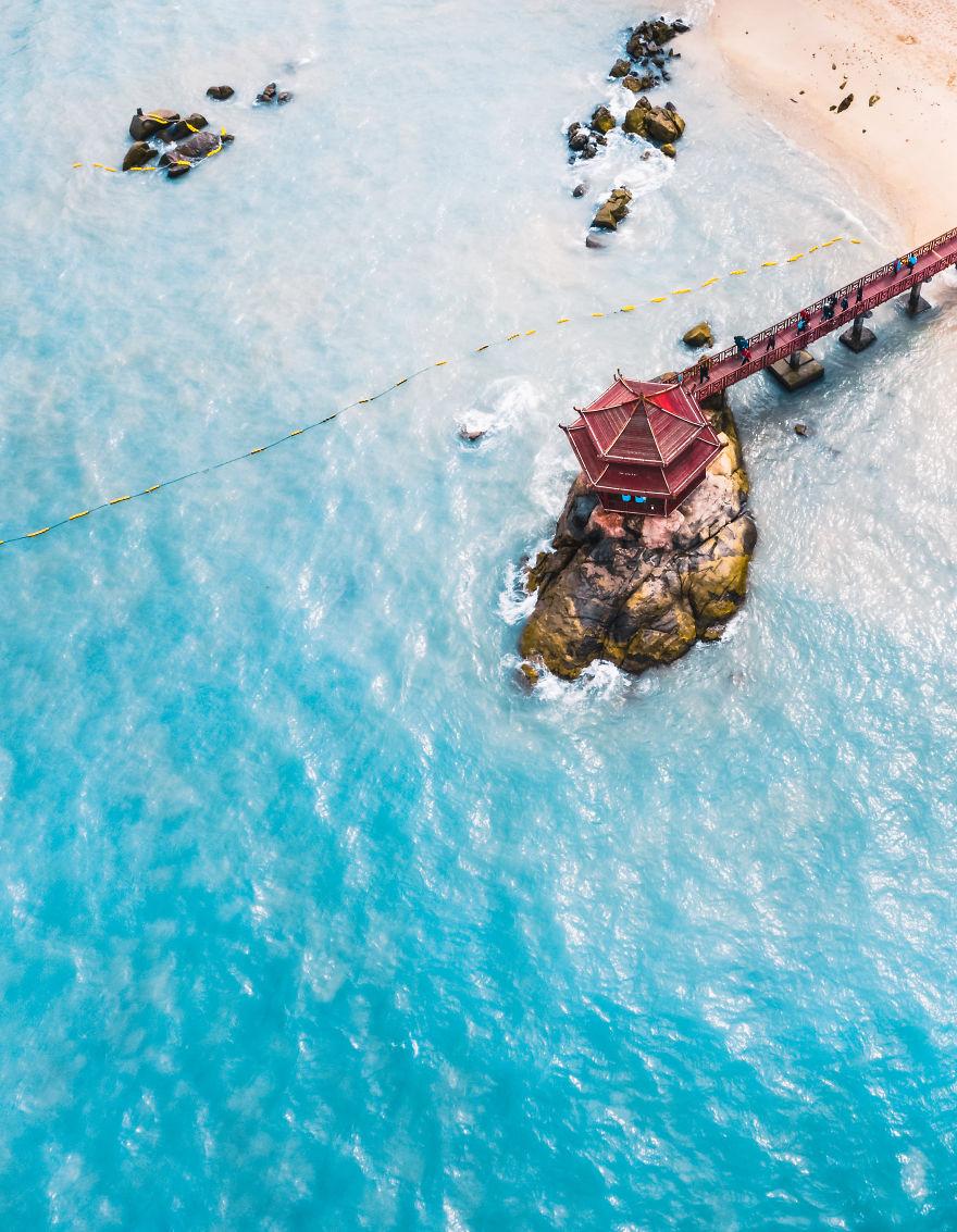 Pagoda On Beach