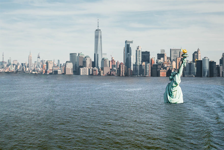 We Show What Famous Landmarks Will Look Like If Climate Change Isn't Stopped (30 Pics)