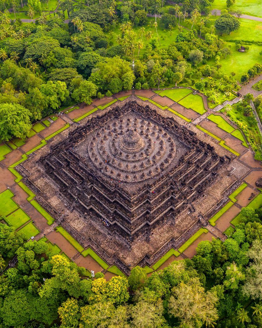 Surrounded By 72 Buddha Statues - The Great Candi Borobudur