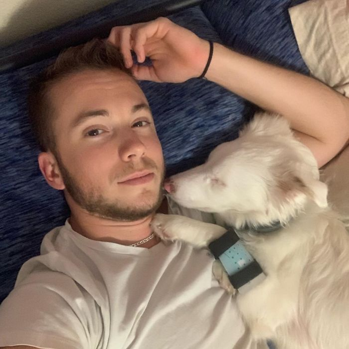 Guy Shows How He Wakes Up His Blind And Deaf Dog Without Scaring Her, Receives Almost 13 Million Likes