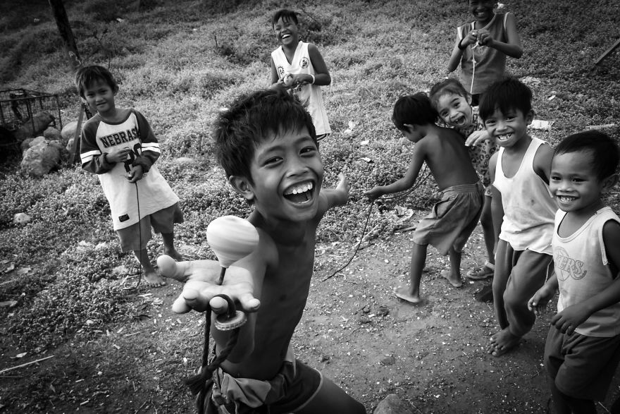 Simple Joy As These Children Playing Outdoor Instead Of Gadgets