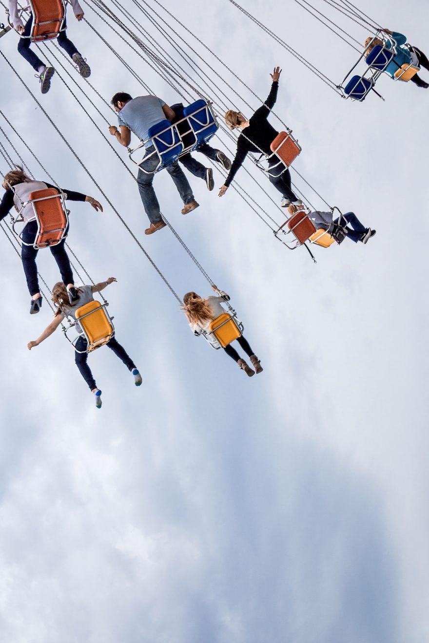 Swing Ride At Chicago Fun Fair