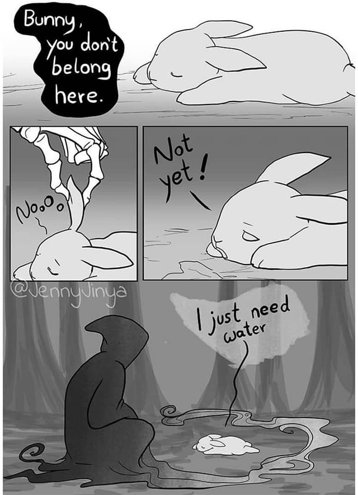 The Same Artist Who Made People Cry With Her 'Good Boy' And 'Black Cat' Comics Just Released A New One With A Bunny