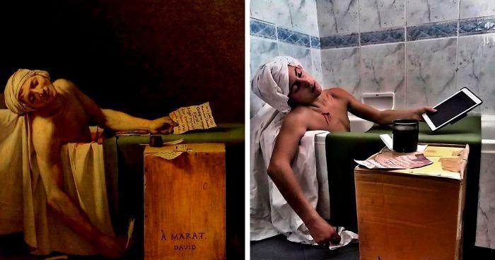 La gente recrea cuadros famosos en este grupo español de Facebook, aquí tienes 30 de los mejores