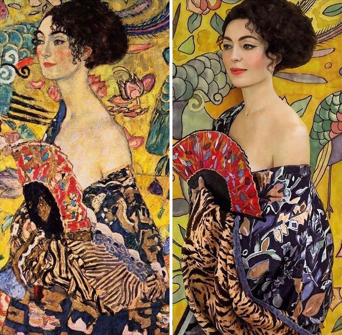 Neue Galerie New Yorkinspiration Of The Day - Lady With Fan By Gustav Klimt (1917-1918) And The Gorgeous Muse
