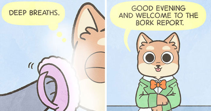 Artist Illustrates Dogs Reporting On Events Important In Daily Pup World In Her 14 Comics