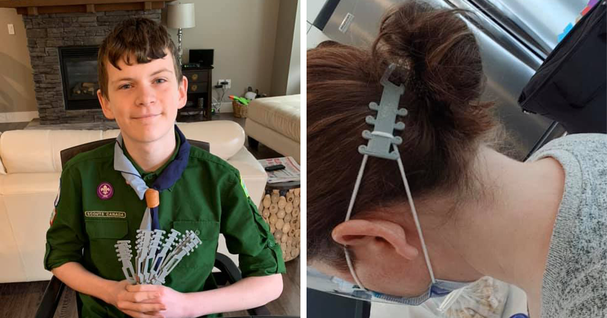 Hospital Asks For People's Help With Pain From Wearing A Face Mask All Day, This Boy Scout Delivers