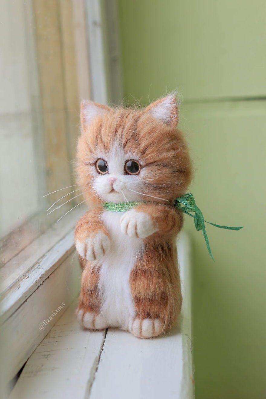 Russian Artist Produces Kittens Made Of Wool So Cute You Will Want One