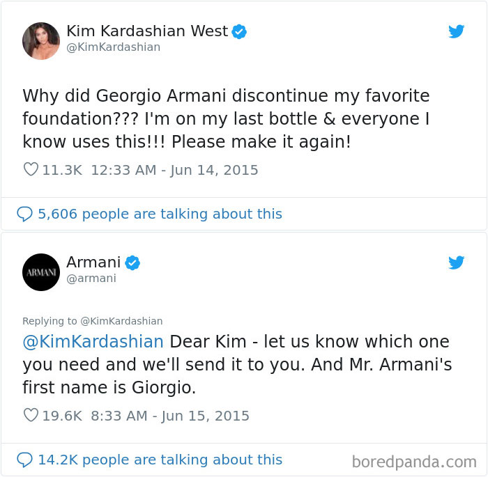 "When Kim Kardashian West Got Called Out By Armani For Not Knowing How To Spell ""Giorgio"""