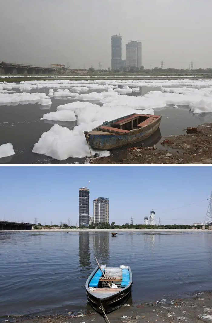 Yamuna River, New Delhi, India