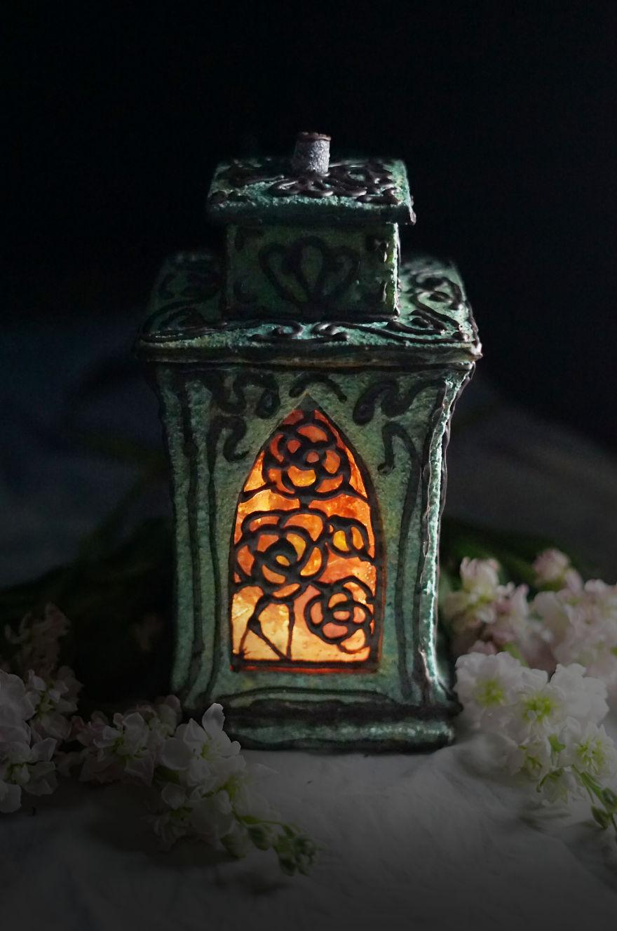 Art Nouveau Lantern