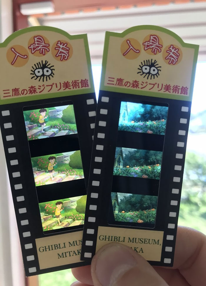 These Movie Tickets From The Ghibli Museum Are Made From Frames From Different Ghibli Movies