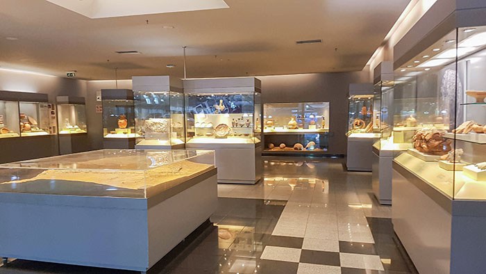 Athens Airport Has An In-House Museum Where Ancient Artifacts, Uncovered During Its Construction, Are Exhibited