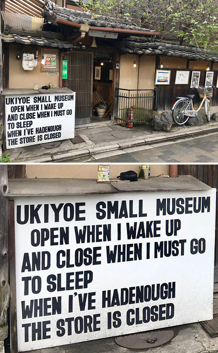 There Is A Tiny Museum In Kyoto, Japan With Some Very Unusual Opening Hours