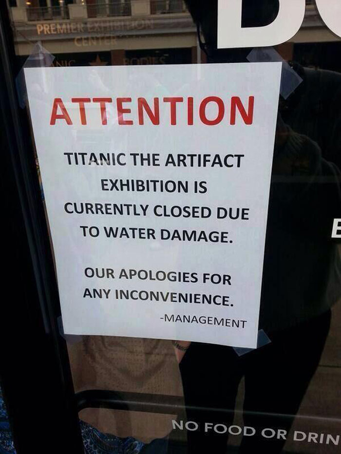 Oh No - Titanic Artifacts Damaged By Water