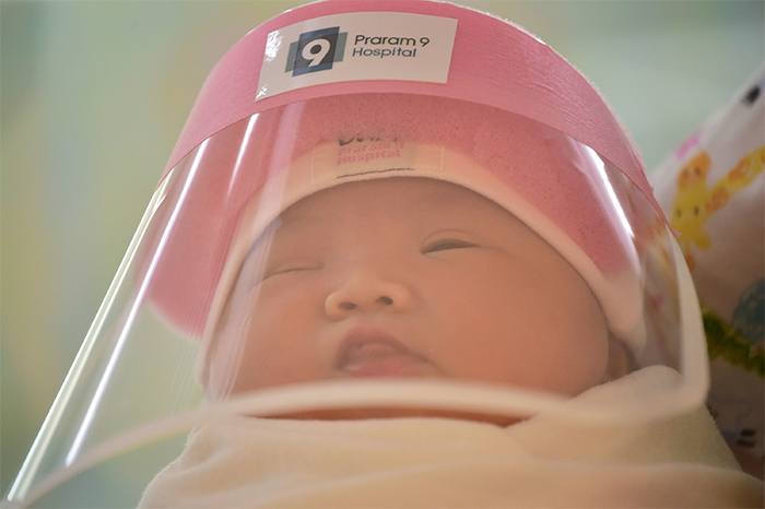 These Newborns Are Getting Tiny Face Shields To Protect Them From The Coronavirus